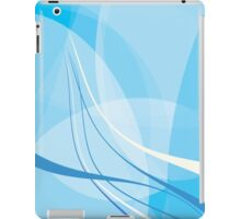 Snaggle Poof Blue Abstract Digital Wave iPad Case/Skin