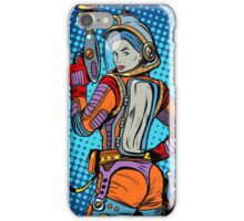 Girl space marine science fiction retro iPhone Case/Skin