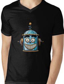 emoticon happy emoji robot head smiley emotion Mens V-Neck T-Shirt