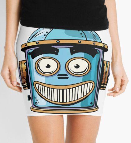 emoticon happy emoji robot head smiley emotion Mini Skirt