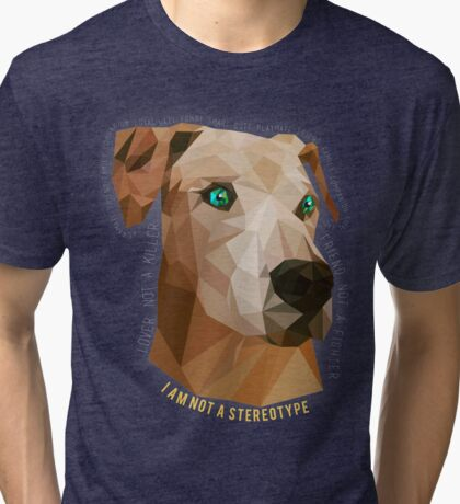 Pit Bulls - Not A Stereotype  Tri-blend T-Shirt