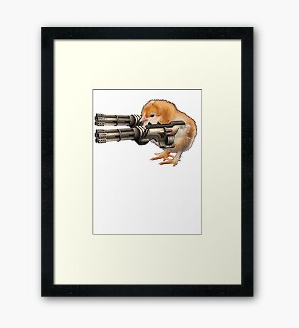 Guns Up Baby! Framed Print