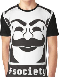 F society - Mr Robot Graphic T-Shirt