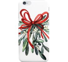 Branch of mistletoe iPhone Case/Skin