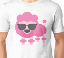 Pink Poodle Dog Emoji Cool Sunglasses Look Unisex T-Shirt
