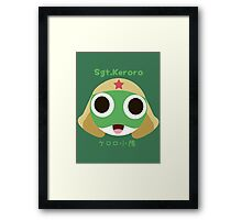 Sgt.Keroro Head  Framed Print
