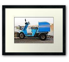 Delivery Scooter, Mykonos Framed Print