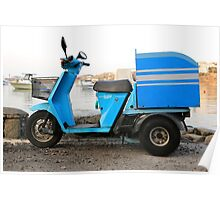 Delivery Scooter, Mykonos Poster