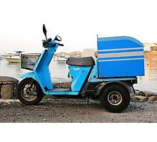 Delivery Scooter, Mykonos Photographic Print