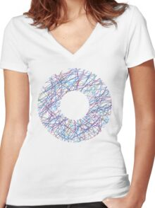 Donut circle Women's Fitted V-Neck T-Shirt