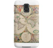 Antique Map of the world (Part of a set) Samsung Galaxy Case/Skin
