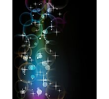 Stars Over Miami; Abstract Digital Vector Art Photographic Print