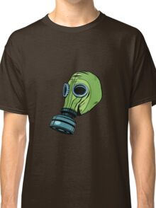 Gas mask, vintage rubber green Classic T-Shirt