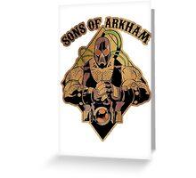 Son of Arkham - Wrestler Greeting Card