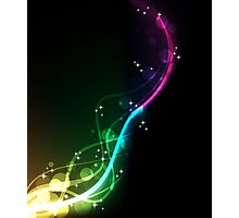 Musically Weird; Abstract Digital Vector Art Photographic Print