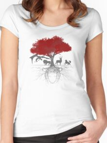 Three-eyed raven tree Women's Fitted Scoop T-Shirt