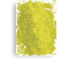 Grungy Clean Green; Abstract Digital Vector Art Canvas Print