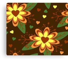 Floral hearts Canvas Print