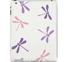 Dragon Fly Pattern in White, Pink and Purple iPad Case/Skin