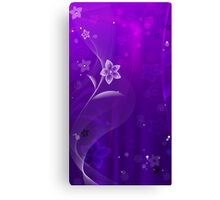 Purple Derple; Abstract Digital Vector Art Canvas Print