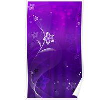 Purple Derple; Abstract Digital Vector Art Poster
