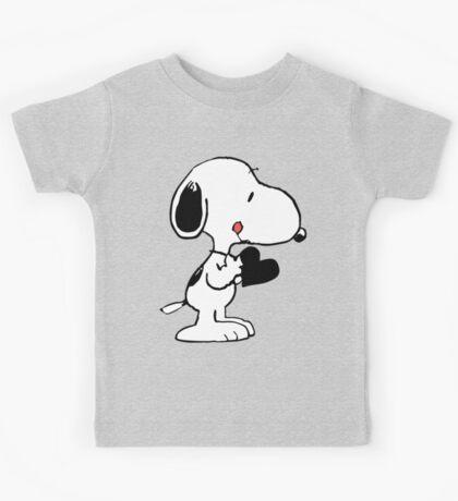 Snoopy's heart  Kids Tee
