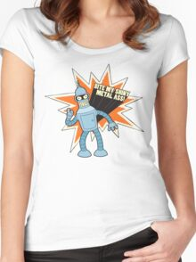 Bender - Futurama Women's Fitted Scoop T-Shirt