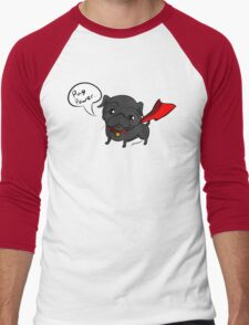 'Super' Cute Pug  Men's Baseball ¾ T-Shirt