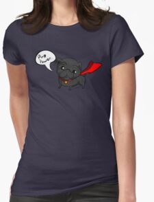 'Super' Cute Pug  Womens Fitted T-Shirt
