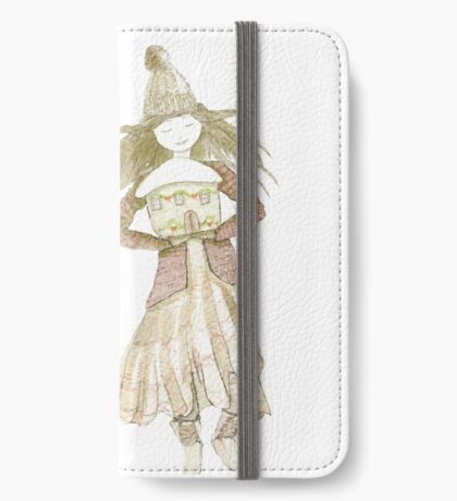 Christmas house girl iPhone Wallet/Case/Skin