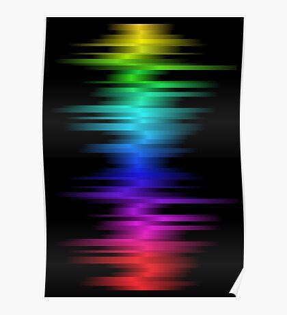 Beats Drop; Abstract Digital Vector Art Poster