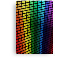 Rainbow Perspective; Abstract Digital Vector Art Canvas Print