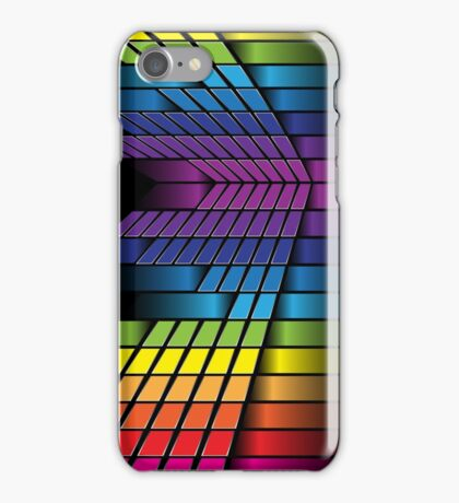 Skyline; Abstract Digital Vector Art iPhone Case/Skin