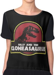 Billy and the Cloneasaurus shirt – The Simpsons, Jurassic World, Jurassic Park, Homer Simpson Chiffon Top