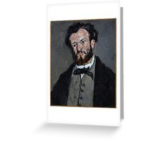 Portrait of Anthony Valabrègue - Paul Cézanne - ca. 1870 Greeting Card