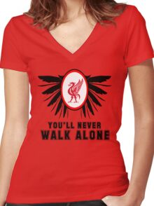 Liverpool FC - Ynwa Women's Fitted V-Neck T-Shirt
