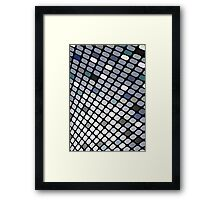 Silver Touch; Abstract Digital Vector Art Framed Print