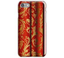 Red Curtain Call; Abstract Digital Vector Art iPhone Case/Skin