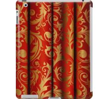 Red Curtain Call; Abstract Digital Vector Art iPad Case/Skin