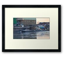 submarine to the pier Framed Print