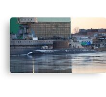 submarine to the pier Canvas Print