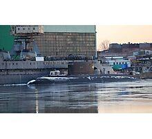 submarine to the pier Photographic Print
