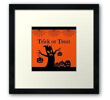 Halloween Trick or Treat Framed Print