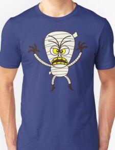 Scary Halloween Mummy Emoticon T-Shirt