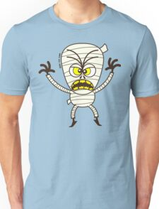 Scary Halloween Mummy Emoticon Unisex T-Shirt