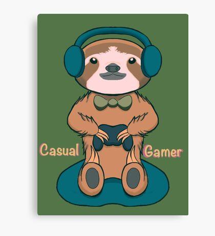 Casual Gamer Canvas Print