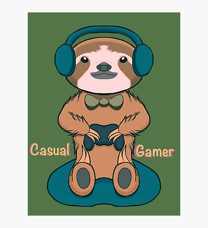 Casual Gamer Photographic Print
