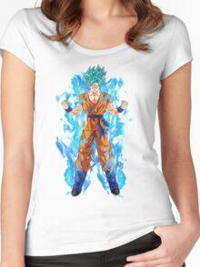 Goku Super Saiyan Blue Women's Fitted Scoop T-Shirt