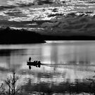 Sunset Fisherman by dlhedberg