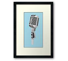 Vintage Microphone Framed Print